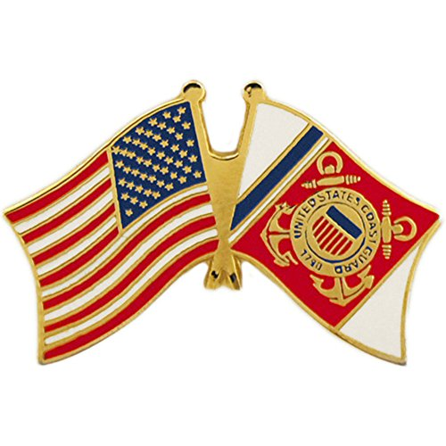 EE, Inc. United States and Coast Guard Flag Pin Military Collectibles for Men Women ()