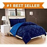 elegant comfort all season comforter and year round medium weight super soft down alternative reversible 2piece comforter set twintwin xl