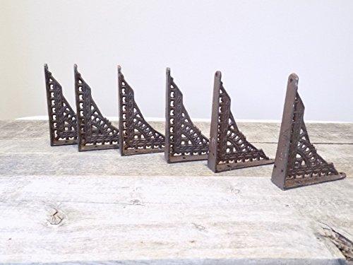 6 Antique Style Shelf Brace Wall Bracket Cast Iron Brackets Small 5 x 4