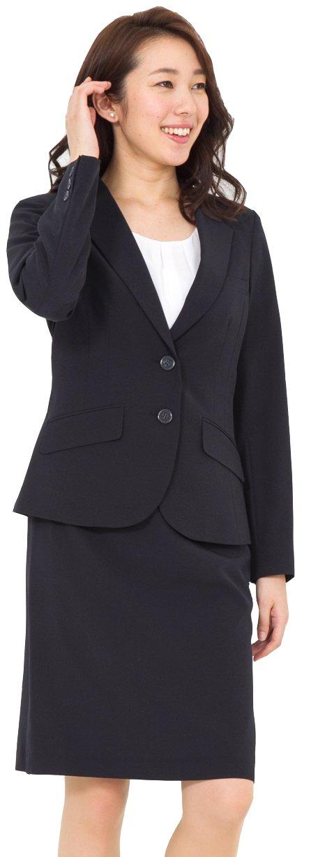 (アッドルージュ) AddRouge スーツ レディース 2点 セット 洗える ジャケット タイトスカート ひざ丈【j5097】 B01N4T9NTC 17号ABR|ネイビー ネイビー 17号ABR