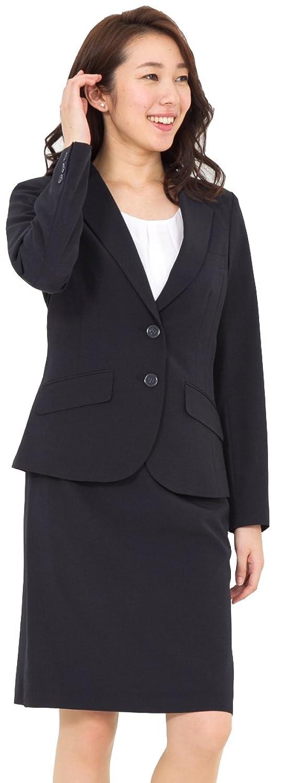 (アッドルージュ) AddRouge スーツ レディース 2点 セット 洗える ジャケット タイトスカート ひざ丈【j5097】 B01N7XGKE9  ネイビー 21号ABR