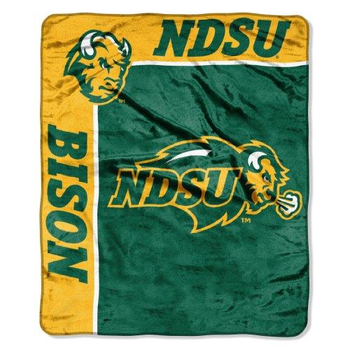 Officially Licensed NCAA North Dakota State Bison School Spirit Plush Raschel Throw Blanket, 50