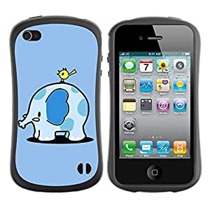 fashion Case for Apple iPhone 6 4.7 for kids / Cute Elephant & Bird