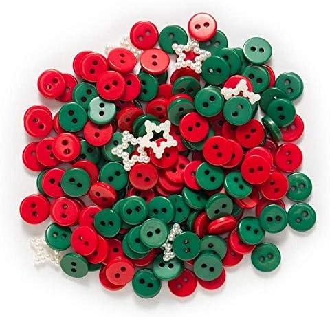 RTYW クリスマスラウンドレジンボタン縫製スクラップブッキング服手仕事インテリアギフト工芸カードはファブリックアクセサリー9ミリメートルを作ります (Color : Green)