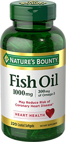 Nature's Bounty Fish Oil 1000 mg Omega-3, 220 Odorless Softgels (Packaging May Vary)