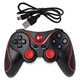 Upupo Bluetooth 3.0 Wireless Gamepad With Micro USB OTG Converter Adapter, USB Handheld Game Controller Joystick Joypad, Phone Holder Bracket For Android Phone Tablet PC Smart TV Box PS3
