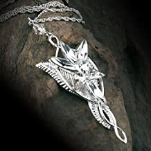 the Lord of the Rings Elf Queen Arwen Evenstar Pendant Necklace,Necklace for Women Christmas Gift