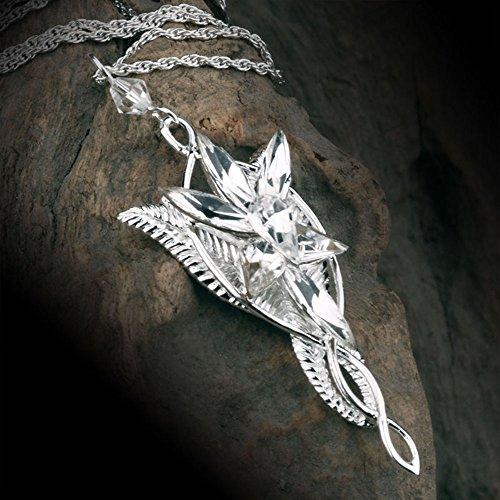 the Lord of the Rings Elf Queen Arwen Evenstar Pendant Necklace,Necklace for Women ()