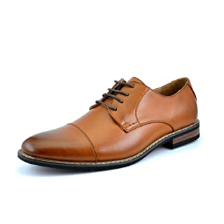 Bruno HOMME MODA ITALY PRINCE Men's Classic Modern Oxford Wingtip Lace Dress Shoes,PRINCE-6-BROWN,9 D(M) US
