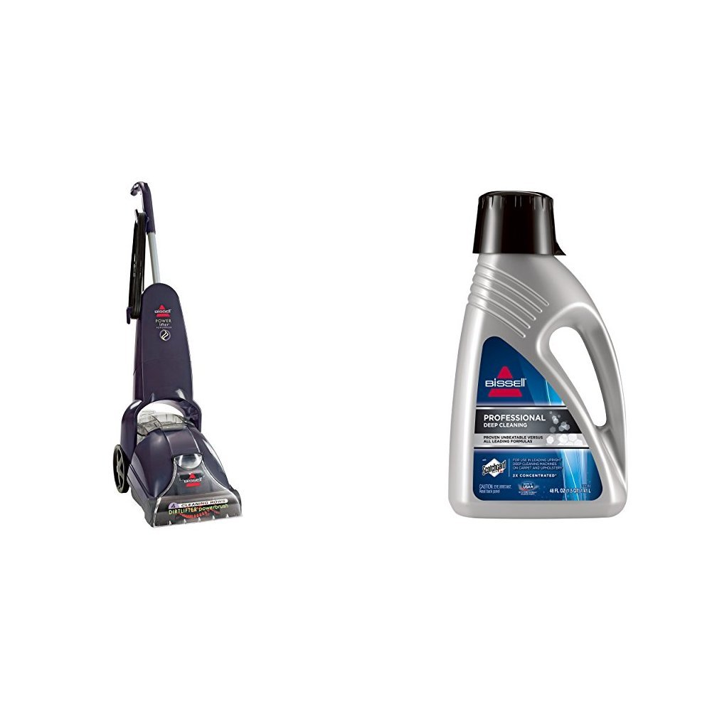 Professional Deep Cleaning Bundle - PowerLifter PowerBrush + Deep Clean Pro 2X Deep Cleaning Formula, 48 oz by Bissell