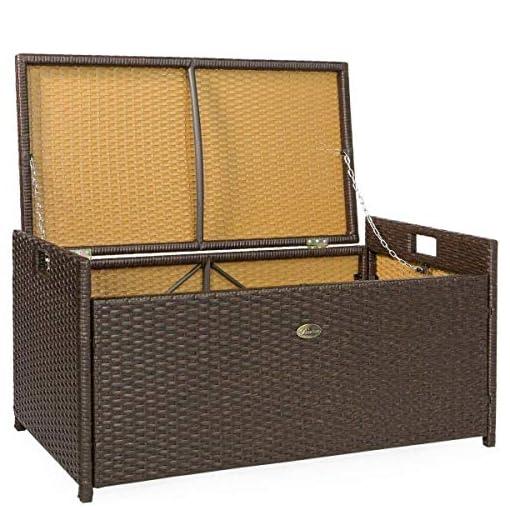 Garden and Outdoor Chest Wicker Storage Outdoor Organizer Seat Container Box Bench Rattan Entryway, Patio, Pool, Garden outdoor storage benches