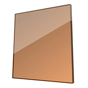 Amazon Com Bronze 17 X 19 X 4 5mm Colored Plexiglass Sheet Highly Versatile Light Weight And High Impact Strength Colored Acrylic Sheet Made In Usa Industrial Scientific
