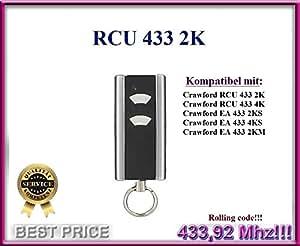 Crawford rcu4332K handsender de 2canal 433.92MHz Fernbedienung. Rolling Code. Top Calidad Crawford Fernbedienung para el mejor precio.