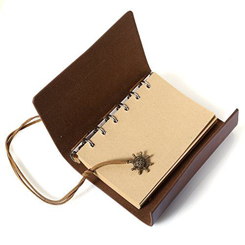Pu Leather Notebook Diarybook Travel Memo Sailing Log For