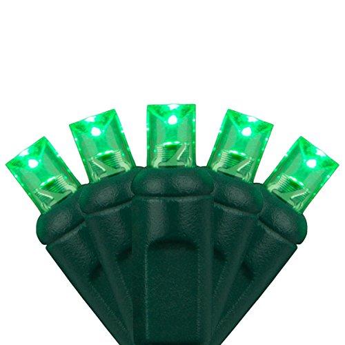 - LED Christmas Mini Light Set, 5mm Lights, Indoor/Outdoor Christmas Light Decorations, 120V UL Certified, Green Wire (50 lights, 25 ft, Green)
