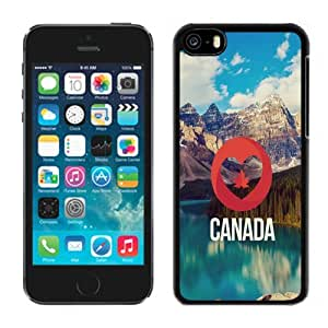 NEW Unique Custom Designed iPhone 5C Phone Case With I Love Canada Nature Landscape_Black Phone Case