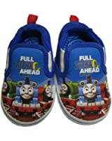 Infant Toddler Boy's Thomas the Train Blue Slip-on Sneaker with Train Design - Size 3-6 Months [3010]