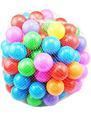 SHUO Free BPA Crush Proof Plastic Ball Pit Balls Colorful Fun Soft Plastic AirFilled Ocean Ball Palyballs for Baby Child