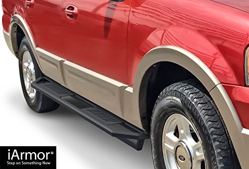 iArmor Aluminum Side Steps Armor Custom Fit 2003-2017 Ford Expedition Sport Utility 4-Door (Excl. EL Model) (Nerf Bars | Side Steps | Side - Aps Rail Fuel