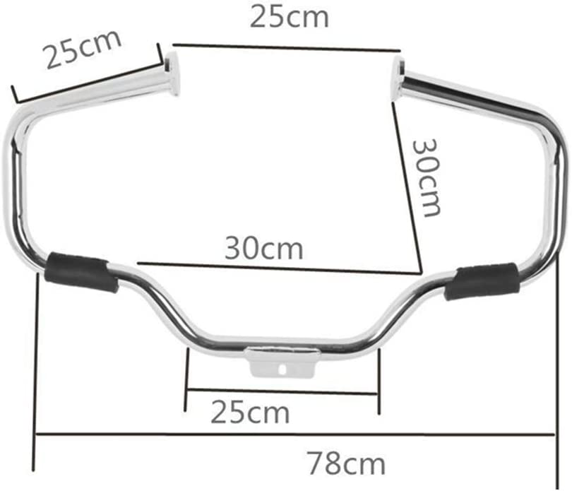 XMT-MOTOR Motorcycle Engine Guard Compatible with Harley FL Fat Boy Heritage Softail Springer 2000-2017 Chrome