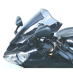 Cupula MRA Pantalla Racing negro KAWASAKI Z 750 S 05- todos los años, KAWASAKI ZX 10 R 04-05 Pantalla Racing: Esta forma de pantalla ha sido desarrollada para el motociclismo y es utilizada por numerosos equipos de competición. La pantalla Racing es como la pantalla Original en su parte inferior pero lleva en medio una elevación con forma de cúpula. Así se reduce la presión del viento en el casco, mejorando la aerodinámica. EAN / núm. de
