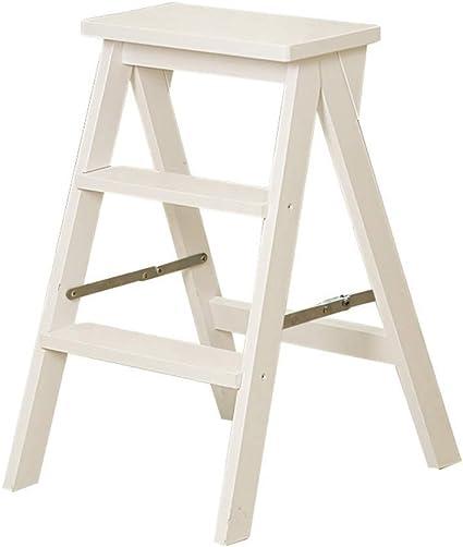 Zichen Asiento Taburete Escalera de almacenamiento Taburete/Escaleras de mano Estructura de escalera plegable for el hogar Taburete de madera maciza con peldaños Silla de escalera móvil de interior: Amazon.es: Instrumentos musicales