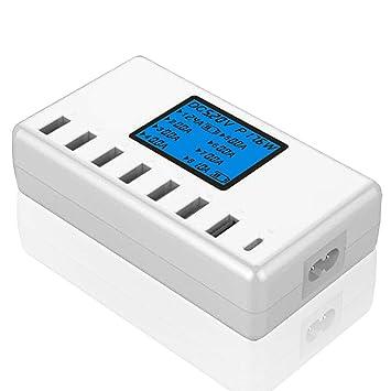 ZUEN Cargador USB USB De Múltiples Puertos Pantalla LCD ...