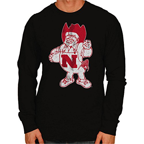 Nebraska Cornhuskers Ncaa Tee (NCAA Nebraska Cornhuskers Men's Long Sleeve Tee, Small, Black)