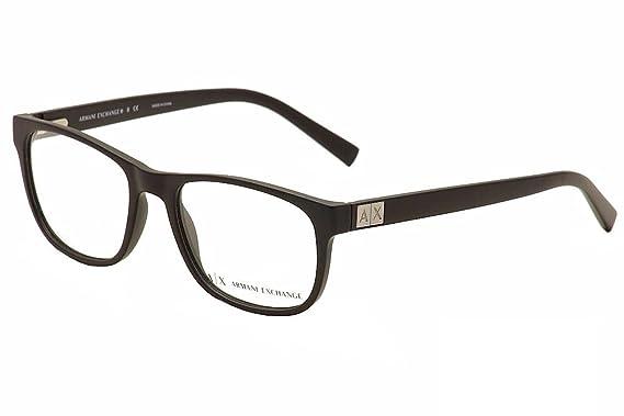 903108a71308 Armani Exchange AX3034 Eyeglass Frames 8078-54 - Matte Black AX3034-8078-54