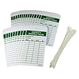 "NMC RPT170 Accident Prevention Tag,""SAFETY INSPECTION"", 3"" Width x 6"" Height, Unrippable Vinyl, Green on White (Pack of 25)"