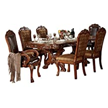 ACME Dresden Formal Dining Room Set with Dining Table and 6 x Dining Chair