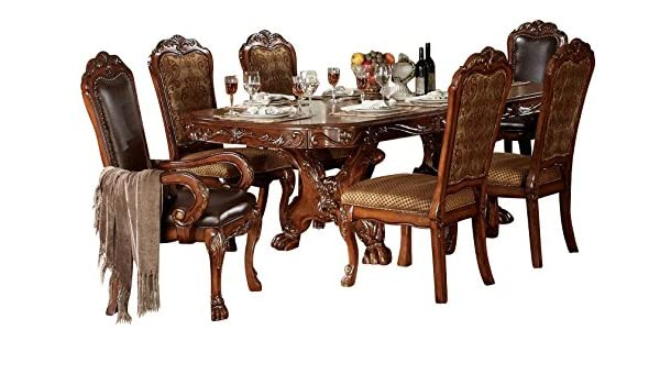 Amazon.com - ACME Dresden Formal Dining Room Set with Dining ...