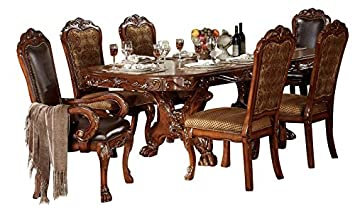 Amazon Com Acme Dresden Formal Dining Room Set With Dining Table