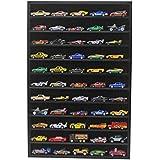 Hot Wheels Matchbox 1/64 Scale Model Cars Display Case Cabinet - NO Door (Black) HW10-BL