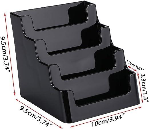 2 porta biglietti da visita in acrilico 4 Pocket Black Btsky