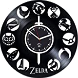 Zelda Online Game, Zelda Vinyl Record Clock, Kovides Vinyl Wall Clock, Gift For Kids, Birthday Gift, Silent Mechanism, Wall Clock Vintage, Gift For Gamer, Wall Clock Modern, Valentines Day Gift For Sale