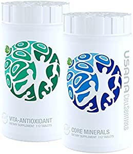 USANA triple action cellular nutrition system: Core Minerals and Vita Antioxidant 112 tablets/ each bottle