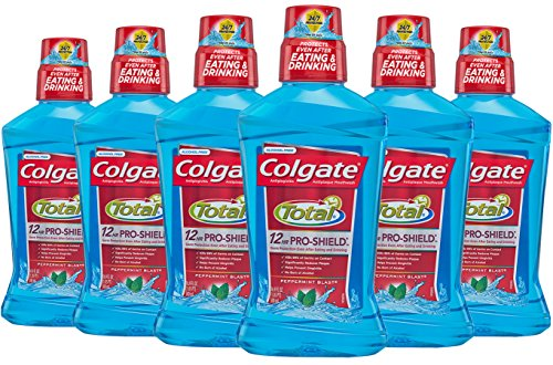 Colgate Total Pro-Shield Mouthwash, Peppermint – 500 mL (6 Pack)