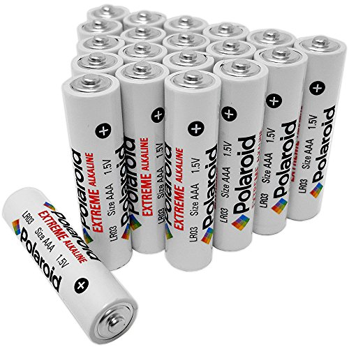 Polaroid AAA Extreme Alkaline Batteries (20 Pack) (Disposable Cameras Bulk)