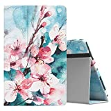 MoKo Case for Samsung Galaxy Tab A 10.5 - [Corner Protection] Premium Slim Folding Stand Cover with Auto Wake & Sleep for Galaxy Tab A 10.5 Inch SM-T590/T595/T597 2018 Release Tablet, Peach Blossom