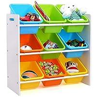 Homfa Toy Storage Organizer Rack Kids Book Organizer Storage Bin Bookcase for Toddlers Kid