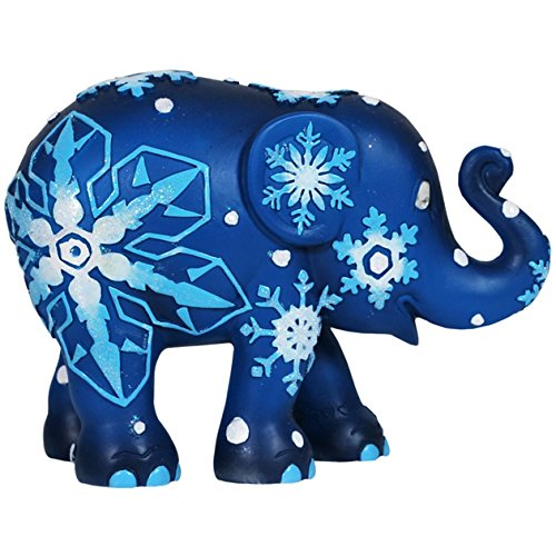Westland Giftware Elephant Parade Resin Figurine in Tin Window Box, 4-Inch, Snowflakes