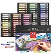 Arteza Soft Pastels, Set of 72 Artist-Grade Soft Pastel Sticks for Arts amp; Crafts Projects, Drawin...