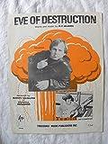 Eve of Destruction - Barry McGuire - Original Dual Photo Edition P/V/C Sheet Music