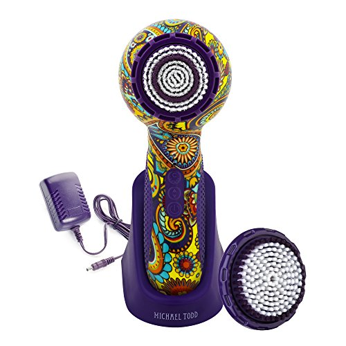 Michael Todd Soniclear Elite Antimicrobial Facial Cleansing Brush System, 6-Speed Sonic Powered Exfoliating Face Brush (Hippie Chic)