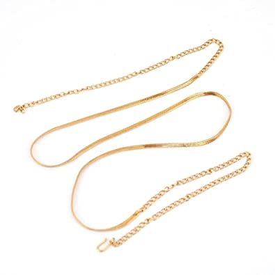 Amazoncom Bollywood Ethnic Indian Gold Plated Waist Belt Chain
