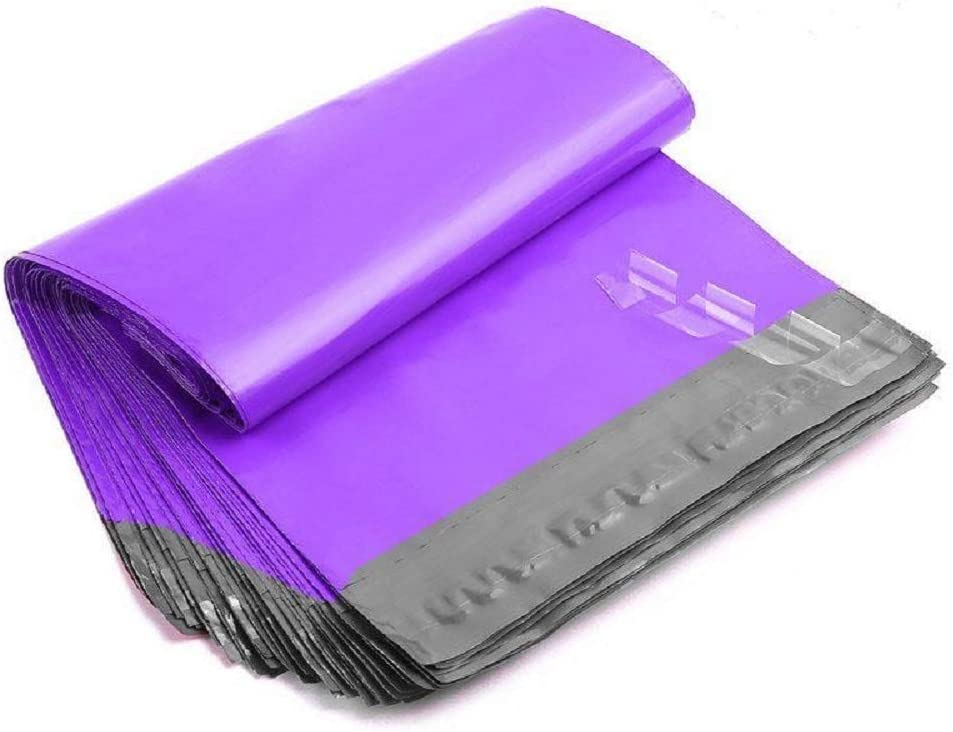 200 9x12 PURPLE Poly Mailers Shipping Envelopes Couture Boutique Quality Bags