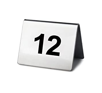 amazon co jp new star stainless steel tent style table number card