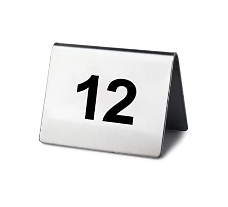 Amazoncom New Star Stainless Steel Tent Style Table Number Card - Stainless steel table numbers