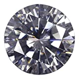 GemsIndustry 0.60Cts. (DEW) D-E-F COLOR ROUND EXCELLENT CUT MOISSANITE LOOSE VVS1 GRADE 5.5MM GEMSTONE …